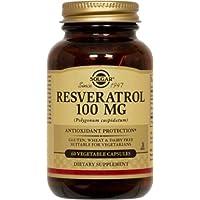 Solgar Resveratrox, Integratore Alimentare Antiossidante per la Funzionalità Cardiovascolare, 60 Capsule