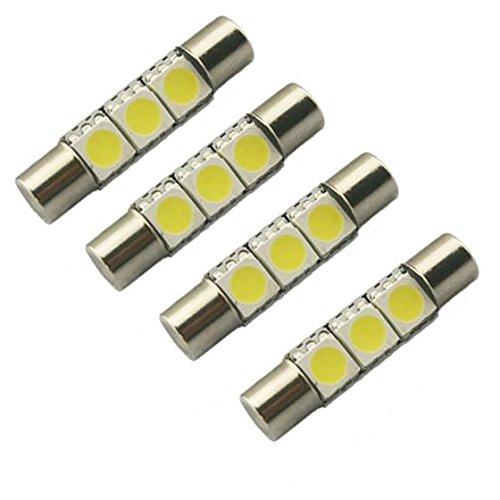 Partsam 4Pcs Super White SMD 6641 3-LED Bulbs Vanity Mirror Lights Sun Visor 2011-2012 Honda CR-Z (2004 Honda Crv Sun Visor compare prices)
