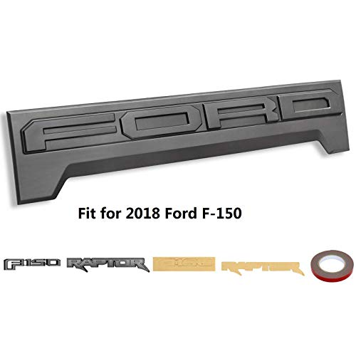 Tail Gate Applique Rear Gate Trim Panel ABS Plastic Fit for 2018 Ford F-150