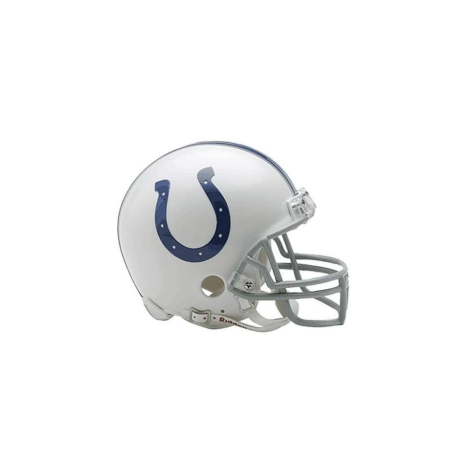 INDIANAPOLIS COLTS Official NFL Riddell Replica MINI HELMET (6 inches by 5 inches)