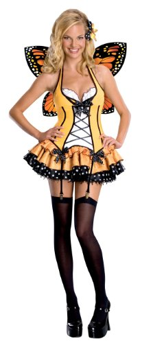 [Secret Wishes  Fantasy Butterfly Costume, Orange, X-Small] (Orange Adult Butterfly Costumes)