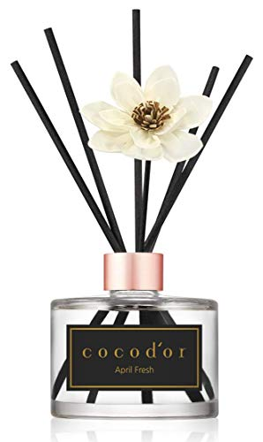 Cocod'or White Flower Reed Diffuser, April Fresh Reed Diffuser, Reed Diffuser Set