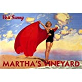 Martha's Vineyard (Personalized) 25''x34'' Planked Wood Sign Wall Decor Art