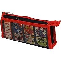 HMI Marvel Avengers Double Pocket Pencil Bag (Multicolor)