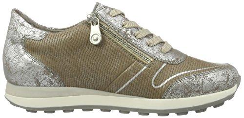 Rieker N1821, Zapatillas Para Mujer, Plateado (Silber/Steel/90), 38 EU