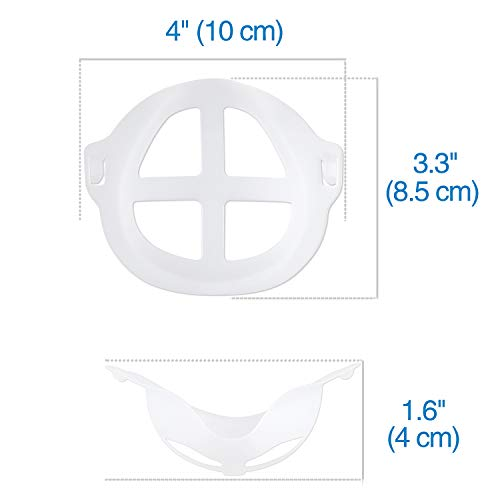 3D Mask Bracket, Face Mask Inner Support Frame MOTOBA Silicone Mask Support for More Breathing Space Reusable Washable, 5 PCS