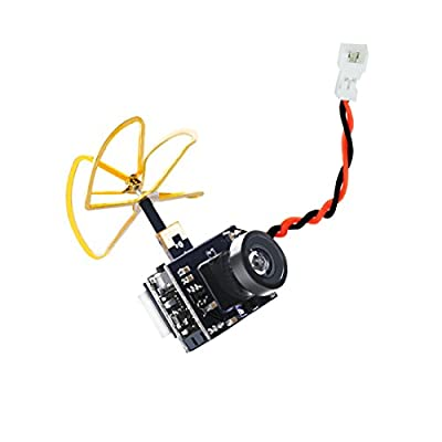 AKK A1 Mini 5.8Ghz 40CH 25mW FPV Transmitter Raceband 600TVL FPV Micro AIO Camera with Clover Antenna for FPV Racing Drone