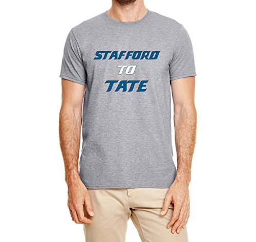 Tobin Clothing Gray Detroit Stafford to Tate T-Shirt Adult 2XL