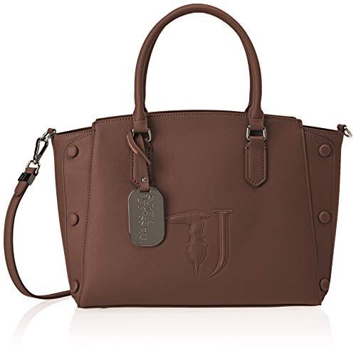Jeans Trussardi 75b00454-9y099999, Borsa Tote Donna, 21x24x13,5 cm (L x H L) Marrone (brun foncé sur T O Ne)