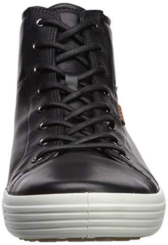 Sneakers 7 Men's Hautes Homme Soft Ecco Ziwpx1an 1001black Noir D9IWH2E