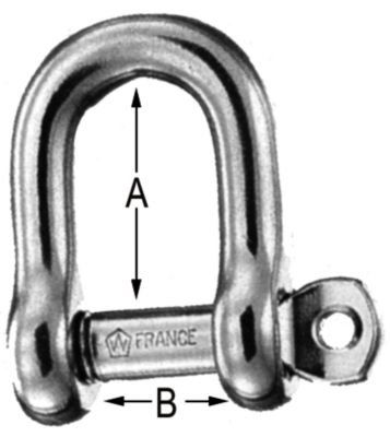 - Wichard Captive Pin D Shackles, locking pin d shackle 5/16in