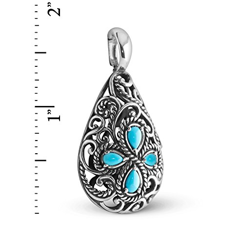 Carolyn Pollack Sterling Silver Sleeping Beauty Turquoise Pendant Enhancer by Carolyn Pollack (Image #2)