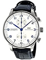 IWC Mens Swiss Automatic and Gold Tone Stainless Steel Casual Watch, Color:Black (Model: IW371446)