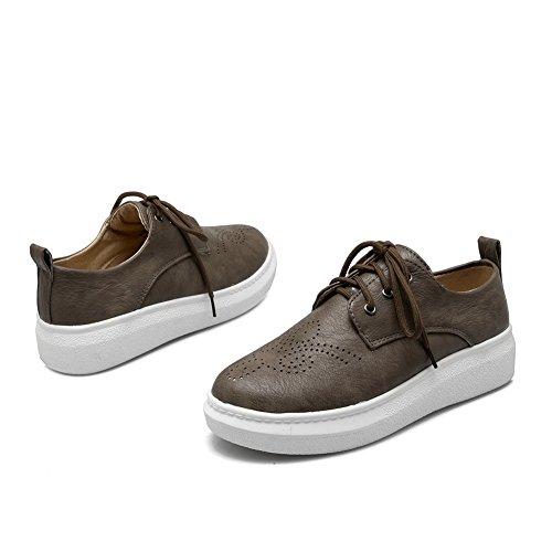 Balamasa Dames Bandage Holle Luipaard Patroon Platform Geïmiteerd Lederen Pumps-schoenen Bruin