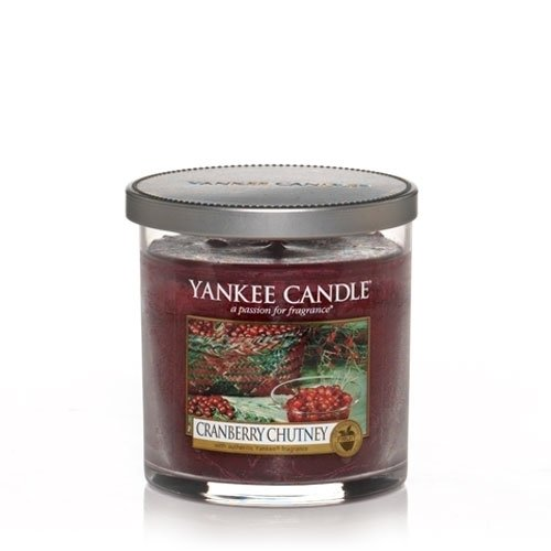 Yankee Candle Cranberry Chutney Small Single Wick Tumbler Candle, Fruit Scent (Chutney Cranberry Yankee Candle)