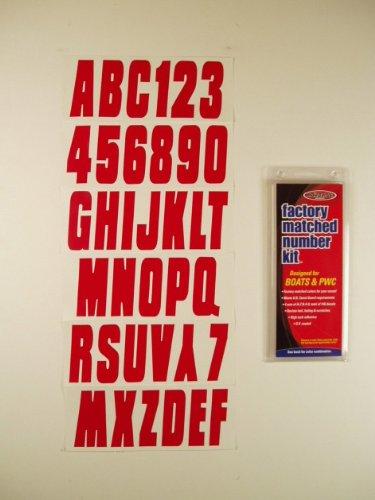 Hardline Products BLU350EC Solid Blue Number Factory Matched Registration Kit