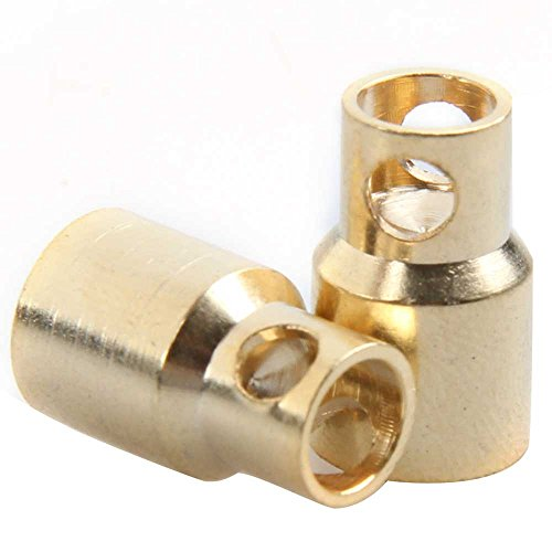 Globeagle 20 Pairs 8mm Bullet Banana Plug Connector for RC Battery Gold Plated ()