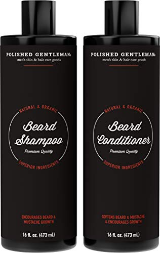 Beard Growth and Thickening Shampoo and Conditioner - With O