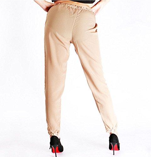 Ropa Cordón Con De Diaria Para Chiffonpantalón Y Caqui Pantalón Mujer Negocios Casual Huateng qwXaYO0n