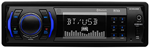 BOSS Audio Car Receiver (No CD/DVD) Model 616UAB | Single Din, Bluetooth, MP3/USB/SD AM/FM, Wireless Remote