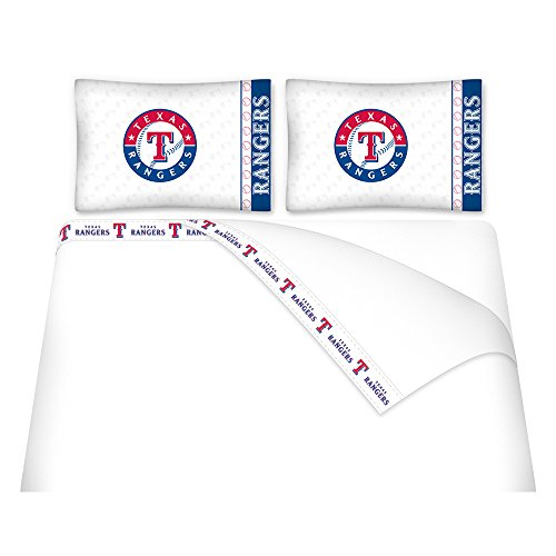 Texas Rangers Bed - MLB Texas Rangers Micro Fiber Sheet Set (Twin)