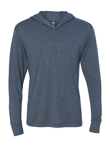 Next Level Apparel mens Next Level Unisex Tri-Blend Long-Sleeve Hoody(N6021)-INDIGO-L by Next Level Apparel