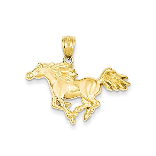 14k Gold Polished Horse Pendant (0.94 in x 1.14 (14k Gold Horse)