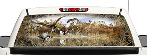 ck Hunting Grassland Camo Rear Window Graphic Decal Perforated Vinyl Wrap (Rear Window Hunting Decal)