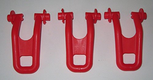 Replacement Evenflo - Set of 3 Replacement Red Feet Brakes Stabilizer for Evenflo ExerSaucer