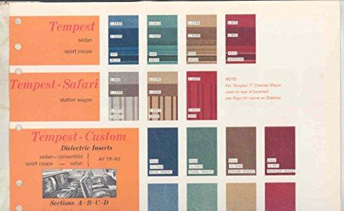 1964 Pontiac Tempest Catalina ORIGINAL Interior Upholstery Sample Page