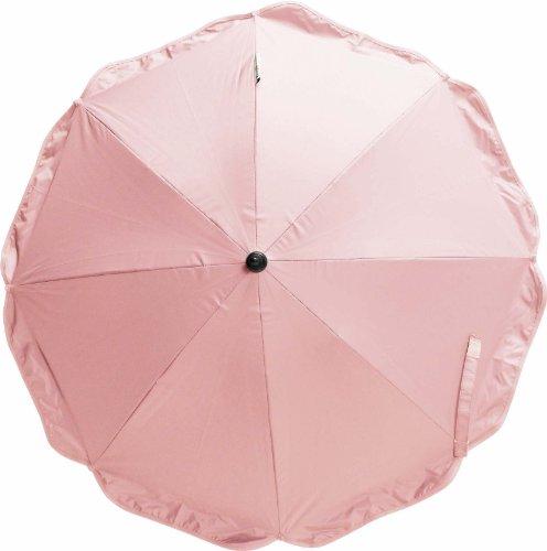 Playshoes 4010952286595 Sonnenschirm für Kinderwagen mit UV Schutz rose, 70 cm