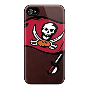 Shock Absorbent Hard Phone Case For Iphone 4/4s (gtz5828igMY) Custom Realistic Tampa Bay Buccaneers Image