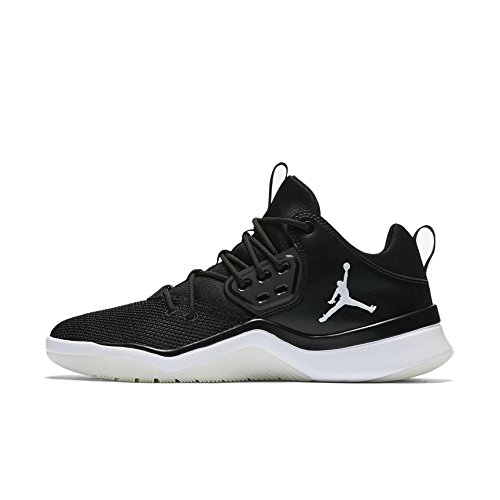 Jordan Nike Men's DNA Black/Black/WHT Basketball Shoe 10.5 Men US by NIKE