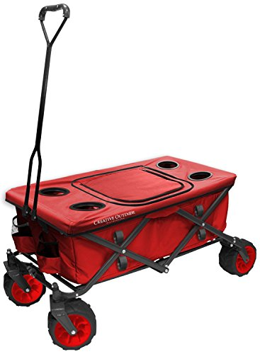 creative-outdoor-distributor-all-terrain-folding-wagon-red-top-included-multipurpose-cart-for-garden