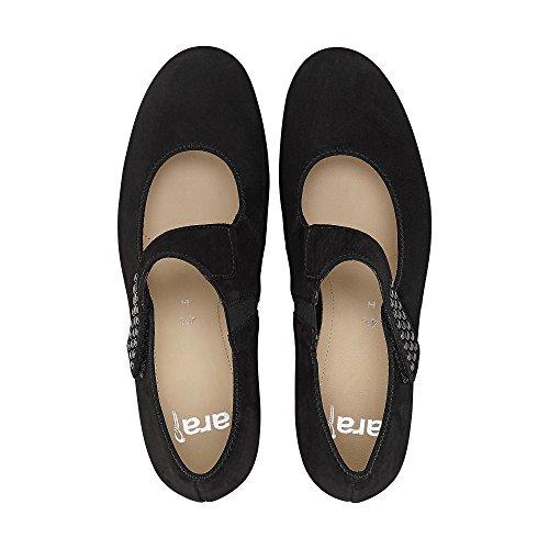 Negro mujer 01 de 12 Piel Zapatos para de ara 43604 vestir SvFFq
