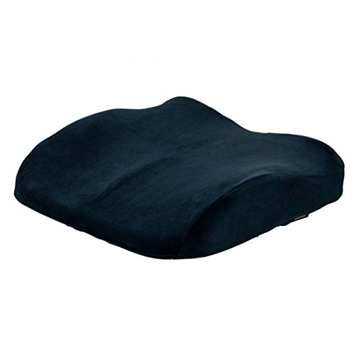 ObusForme Black Sit-Back Dual-Purpose Cushion - High Density Molded Memory Foam for Ergonomic Comfort, Supports Lower Back or Seat, Seat Cushion/Backrest with Back & Seat Cushions