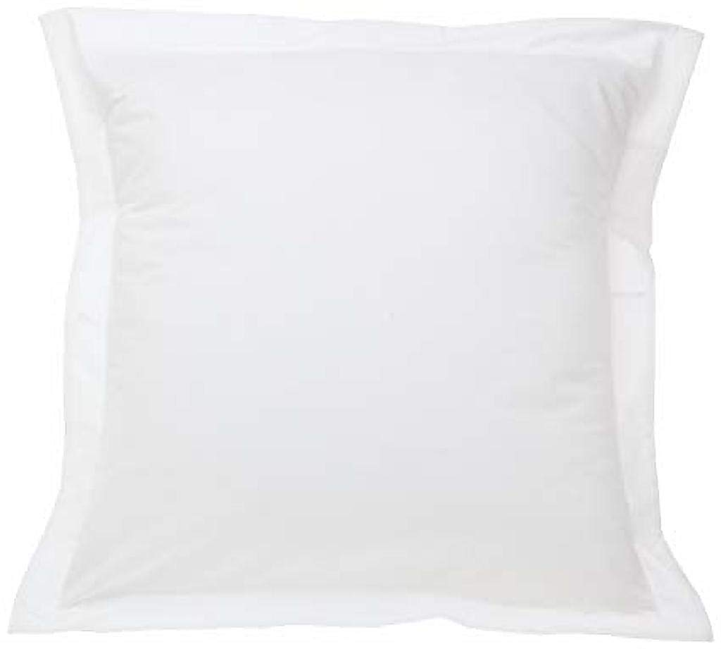 Soft Euro White Solid Pillow Shams Cover Set of 2pc - Luxury Hotel 750 Thread Count 100% Egyptian Cotton (2pc Pack, Euro Size 26x26)