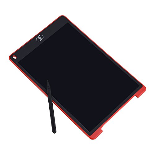 TKSTAR 12 Inch LCD Kids Drawing Toy Writing Tablet Digital Drawing Tablet Handwriting Pads Ultra-Thin Portable Electronic Tablet Board for Kids Children Red