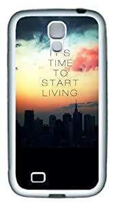 Quotes Time Start Living Custom TPU Rubber Case Cover for Samsung Galaxy S4 / SIV / I9500 White