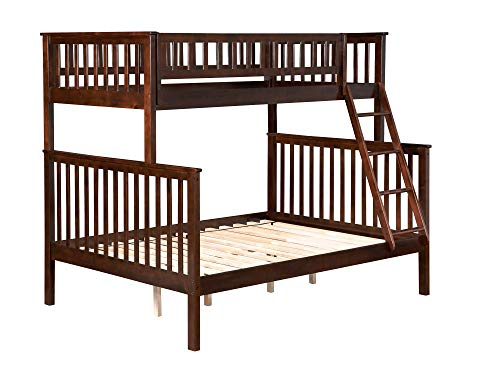 Woodland Bunk Bed, Antique Walnut, Twin Over Full