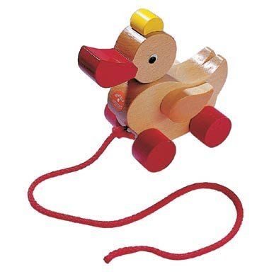 Haba Classic Duck Pull Toy - A Nostalgic Wooden Toddler Toy (Made in Germany)