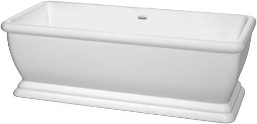 Wyndham Collection WCBTO85368 Candace Freestanding Bathtub, White