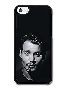 Diy iPhone 6 plus Accessories Johnny Depp Black; White Smoking case for iPhone 6 plus