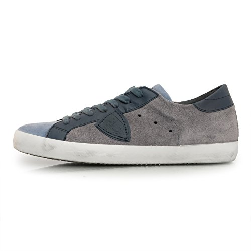 Homme Model Philippe Baskets Greyblue Pour xH6xA84qw