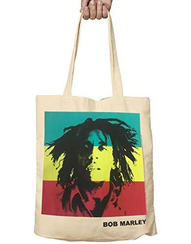 Bob Marley Tote Bag Rasta Portrait Logo Legend One Love Official Fabric