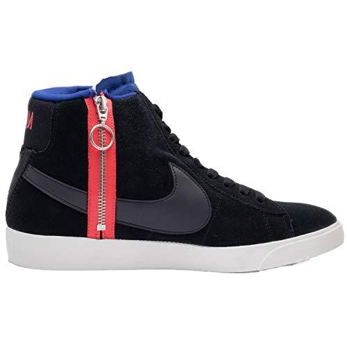 Nike Women's Blazer MID Rebel Black/Deep Royal Blue/Ember Glow/Summit White BQ4022-005 (Size: 8.5)