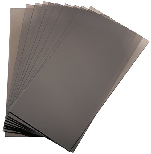 """Yeeco 10PCs Acrylic Plexiglass Sheet, 4""""x8"""" Transparency Brown Plastic Module Plate for DIY Model Project Picture Frame Material Supplies from Yeeco"""