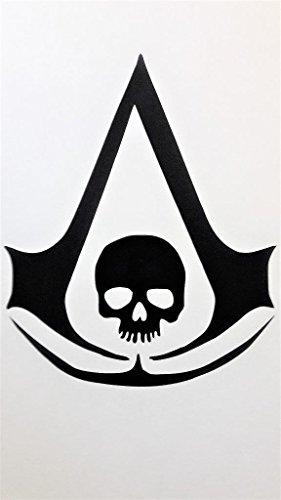 Assign Creed Anarchy Skull Vinyl Decal Sticker BLACK Cars Trucks Vans SUV Jeeps Laptops Wall Art 5.5