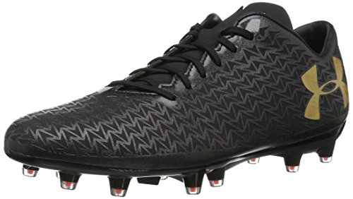 Under Armour Men's Corespeed FG Rugby Shoe, Black (001)/Phoenix Fire, 7 by Under Armour