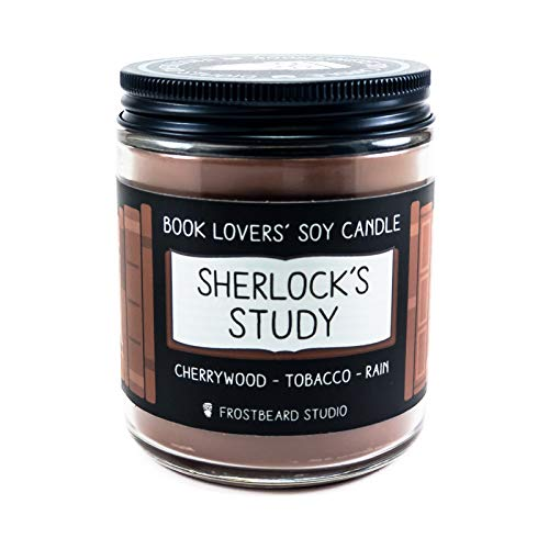 - Sherlock's Study - Book Lovers' Soy Candle - 8oz Jar